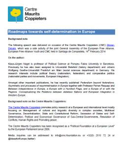 Roadmaps towards self-determination in Europe
