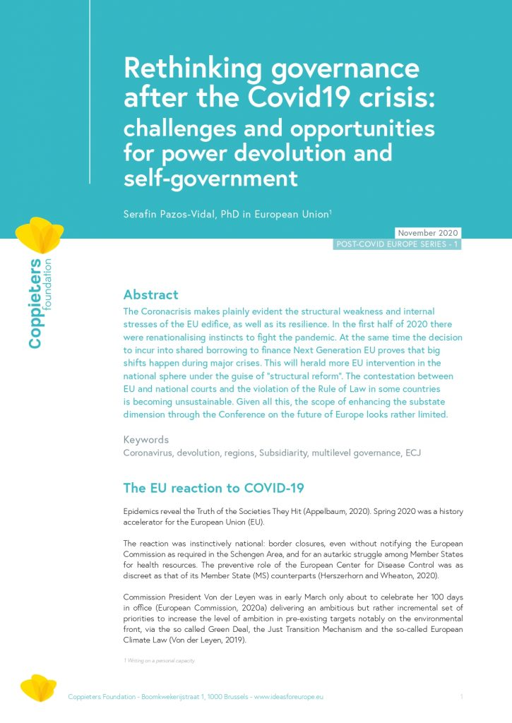 Rethinking governance after the Covid19 crisis – Post-Covid Europe #1